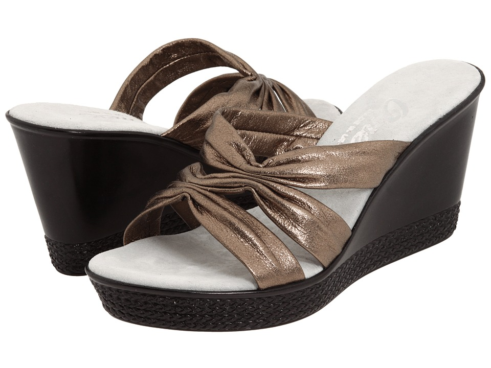 Onex Felicity (Pewter Leather) Wedge Shoes