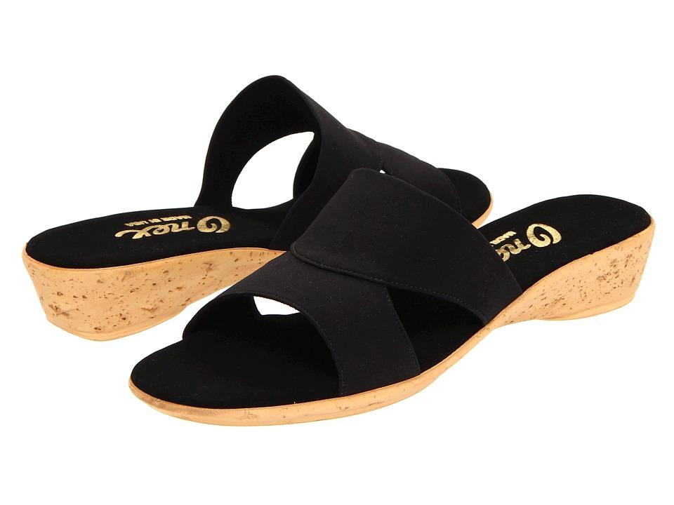 Onex Gilda (Black Elastic) Sandals