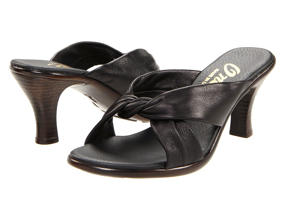 Onex Modest (Black Leather) Women's Dress Sandals