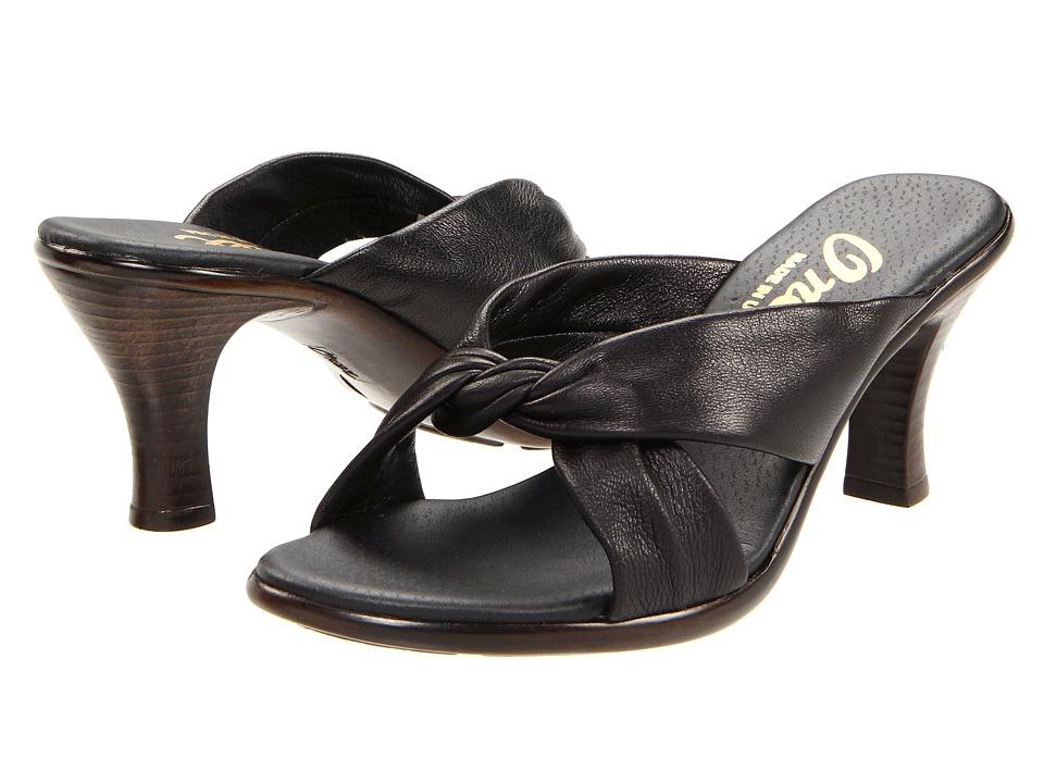 Onex Modest (Black Leather) Sandals