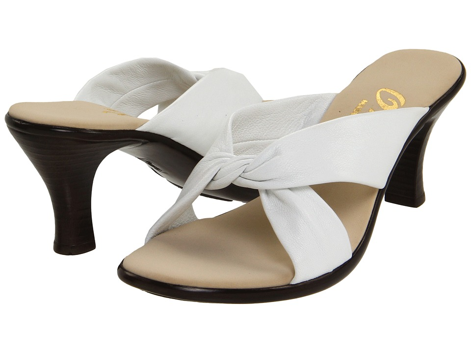 Onex Modest (White Leather) Women's Dress Sandals