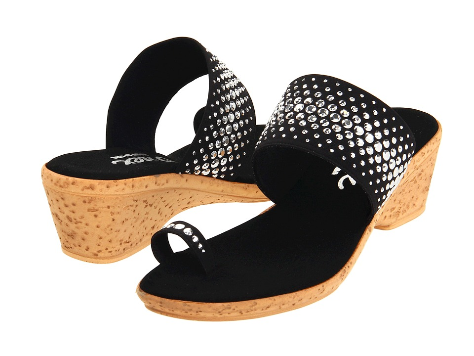 Onex Ring (Black/Silver) Wedge Shoes
