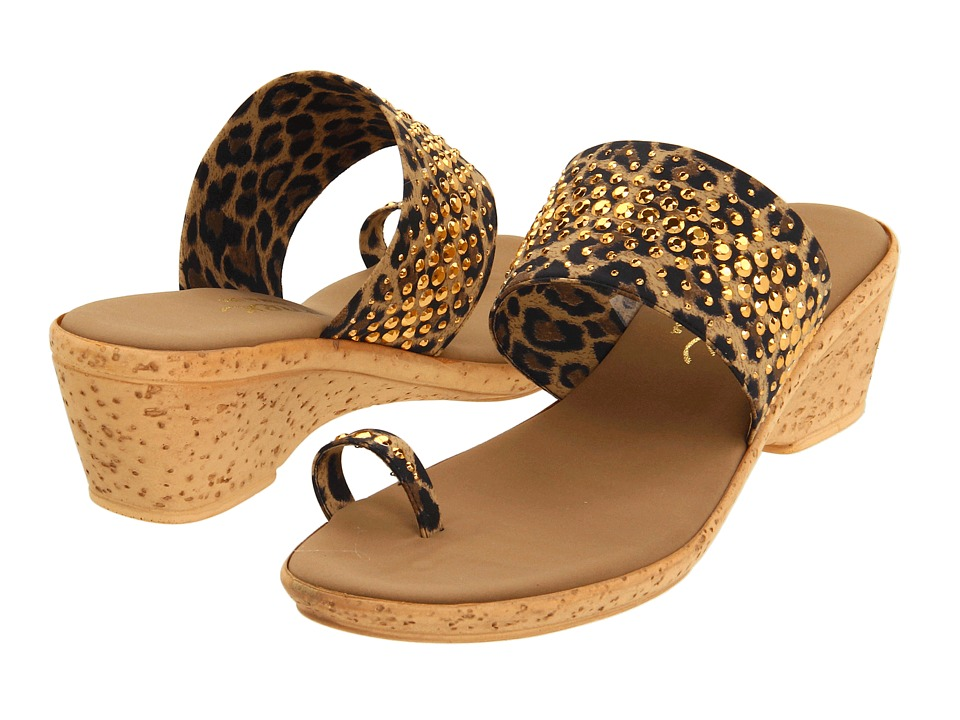 Onex Ring Brown Leopard Womens Wedge Shoes