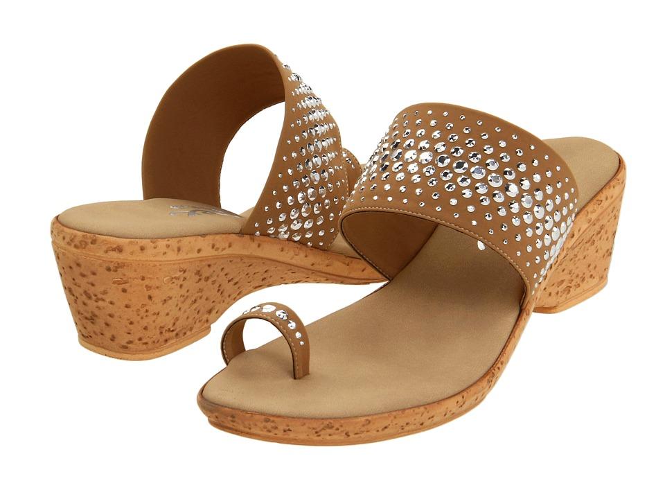 Onex Ring (Tan Elastic) Wedge Shoes