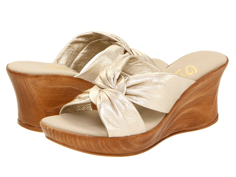 Onex Puffy (Platinum Leather) Wedge Shoes