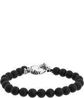 King Baby Studio - Onyx Bead Bracelet with Silver Clasp