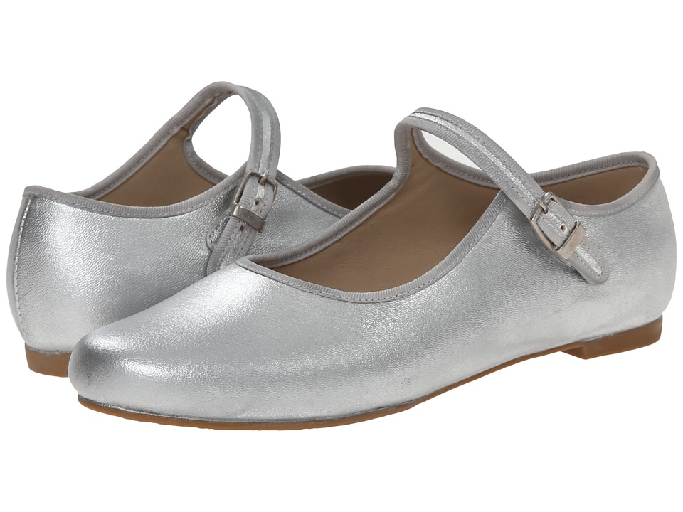 Elephantito Mj W/ Piping Toddler/Little Kid/Big Kid Silver Girls Shoes