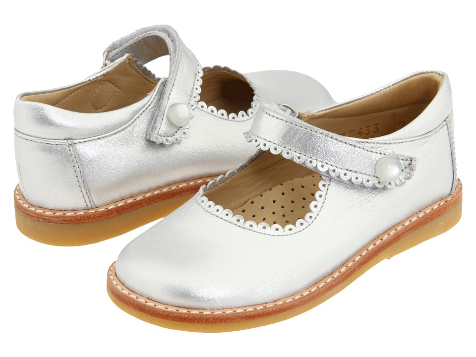 Elephantito Mary Jane Toddler/Little Kid Silver Girls Shoes