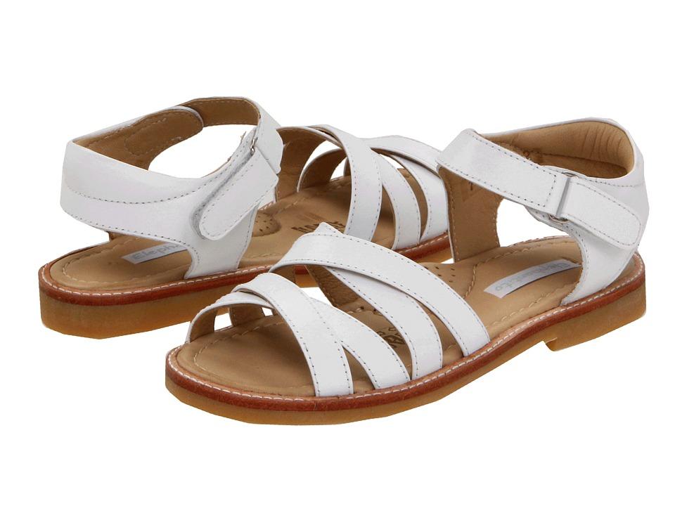 Elephantito 2C Sandal Toddler/Little Kid White Girls Shoes