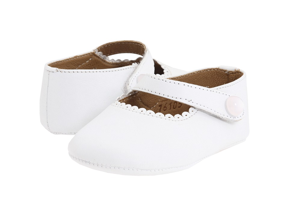 Elephantito Mary Jane Baby Infant White Girls Shoes