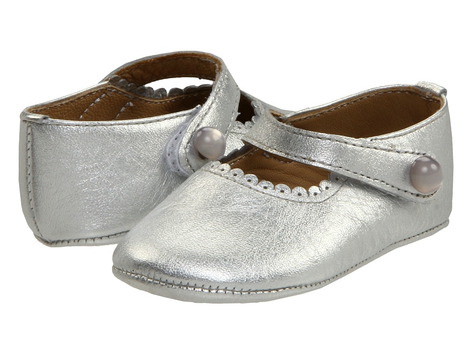 Elephantito Mary Jane Baby Infant Silver Girls Shoes
