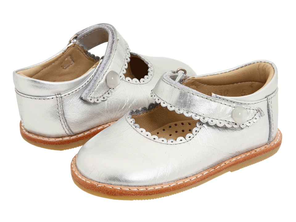 Elephantito - Mary Jane (Toddler) (Silver) Girls Shoes