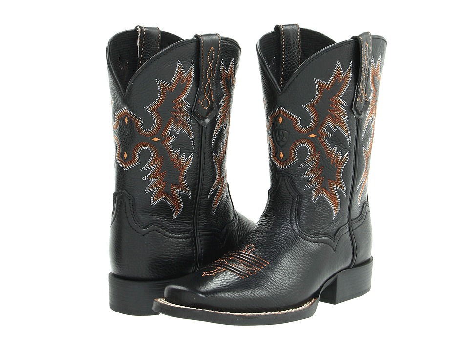 Ariat Kids - Tombstone (Toddler/Little Kid/Big Kid) (Black Deertan) Cowboy Boots