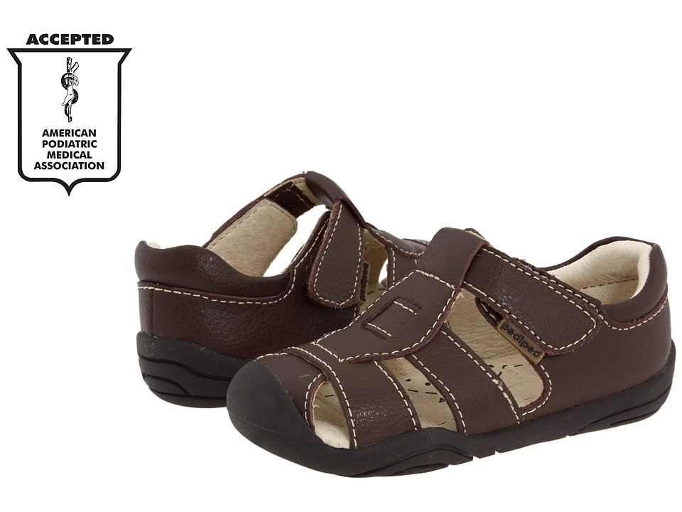 pediped Sydney Grip 'n' Go (Infant/Toddler) (Chocolate Brown) Boy's Shoes