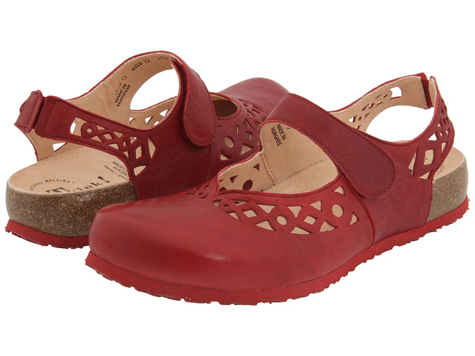 Think! Julia 86341 (Rosso Leather) Women's Clogs