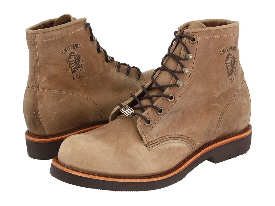 Chippewa - American Handcrafted GQ Tan Rodeo Boot (Tan) Mens Work Lace-up Boots