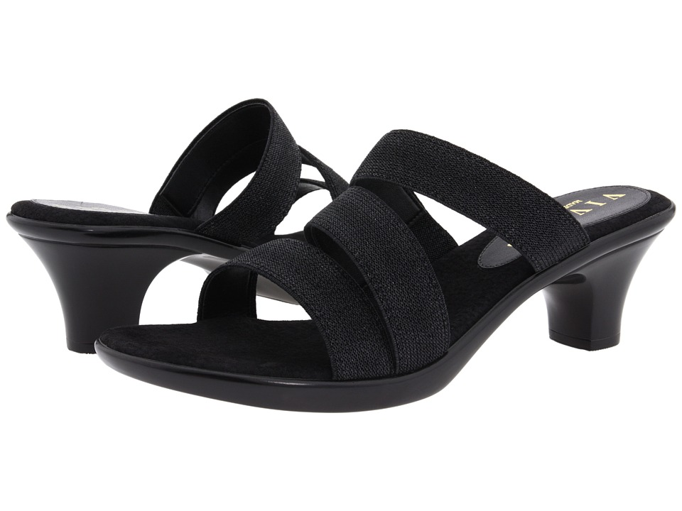 Shop Vivanz online and buy Vivanz Shanise Black Women's Sandals - Mix-and-match the versatile Shanise slide from Vivanz with your favorite outfits, dresses or jeans.Stretch textile crisscross upper provides support while still being extra comfortable.Lightly cushioned footbed provides comfort with each step.Sculpted synthetic heel on a textured rubber outsole offers stability and durability.Made in the U.S.A. Measurements:Heel Height: 2 1 2 inWeight: 6 ozPlatform Height: 5 8 inProduct measurements were taken using size 8, width B - Medium. Please note that measurements may vary by size.