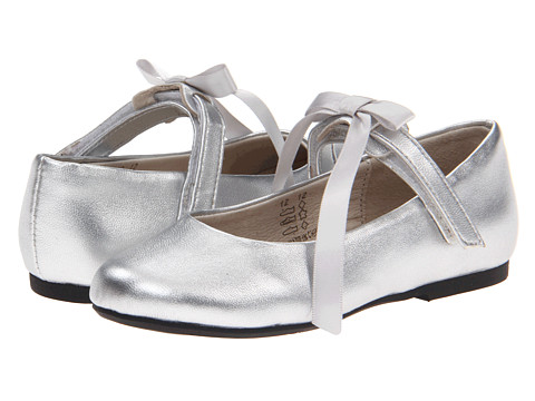 Pazitos Classic Ballerina MJ PU (Toddler/Little Kid) - Silver Metallic