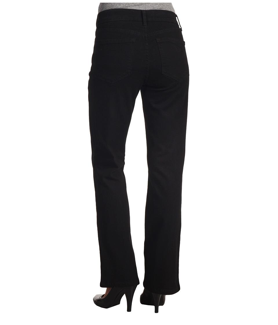 NYDJ Petite Petite Barbara Modern Boot Classic Overdye Black Womens Jeans