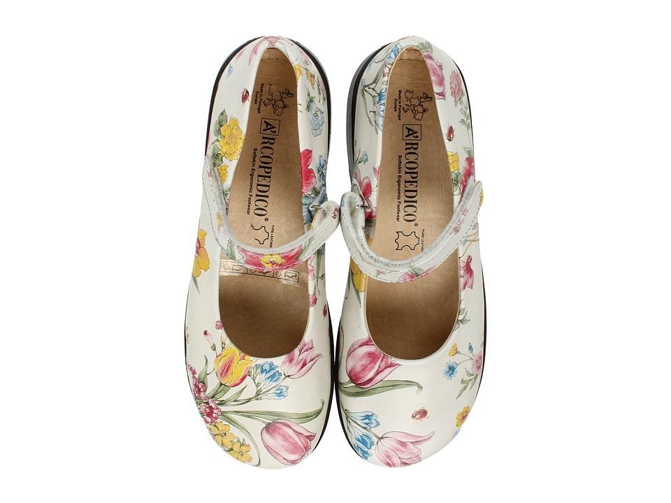 Arcopedico - Scala (Flowers White) Women's Maryjane Shoes