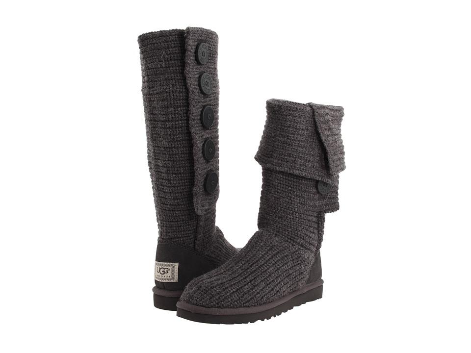 UGG - Classic Cardy Tall (Charcoal) - Footwear $140.00 SALE!