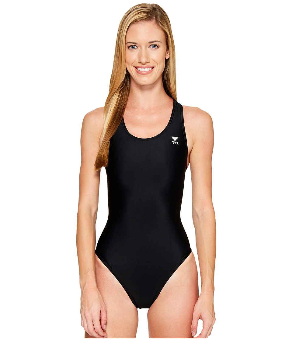 TYR Solid Maxfit Swimsuit (Black) Women