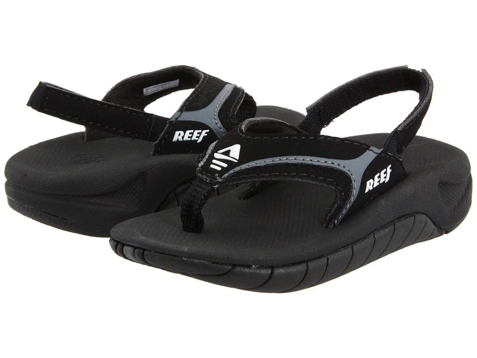Reef Kids Slap II Infant/Toddler/Little Kid/Big Kid Black/Flash Grey Boys Shoes