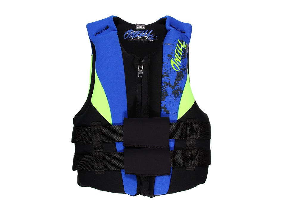 ONeill Kids - Youth Uscg Vest (Big Kids) (Black/Pacific/Dayglo) Athletic Sports Equipment