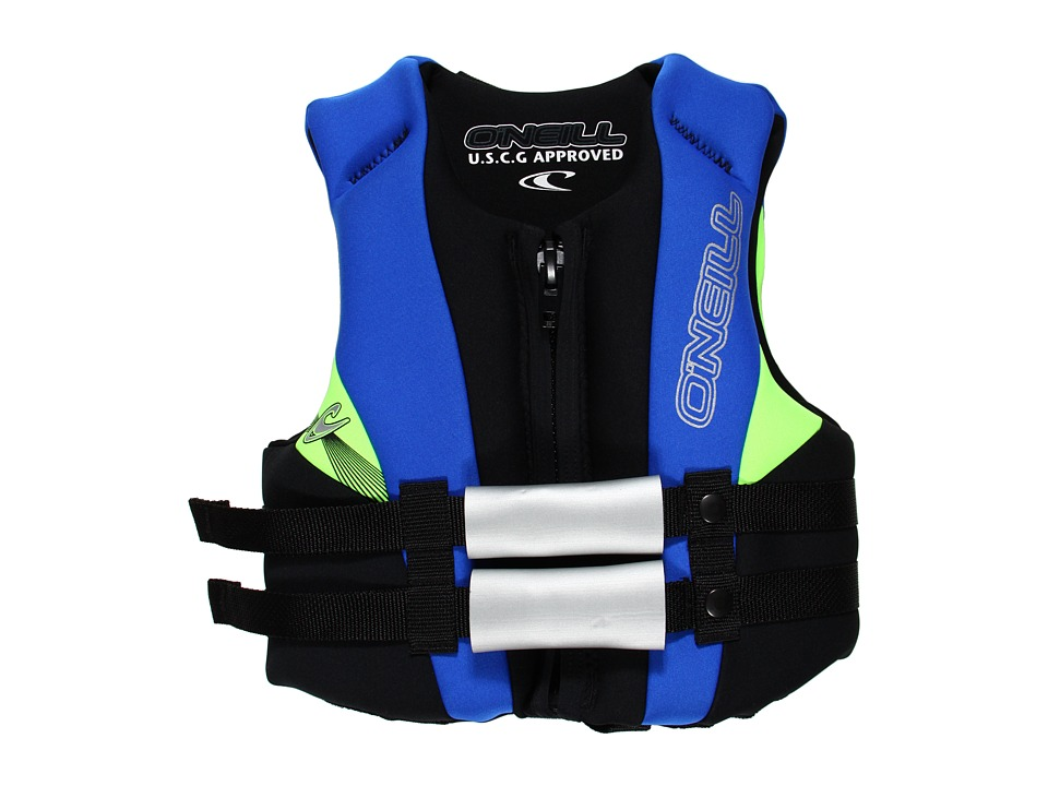 ONeill Kids - Child USCG Vest (Toddler/Little Kids) (Black/Pacific/Dayglo) Athletic Sports Equipment