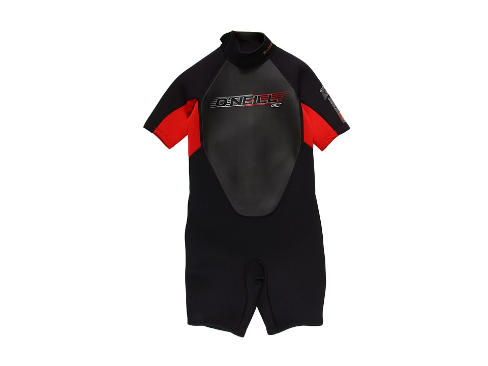 ONeill Kids - Reactor Spring (Little Kids/Big Kids) (Black/Red/Black) Boys Swimwear