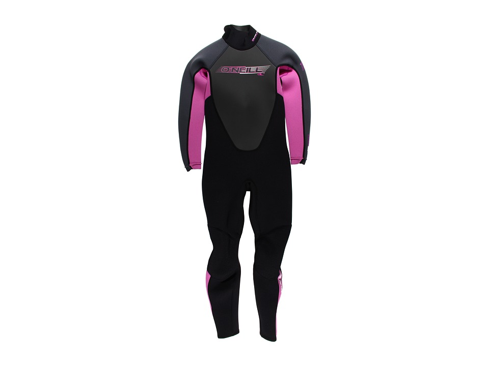 O'Neill Kids - Reactor Full (Little Kids/Big Kids) (Black/Fox Pink/Graphite) Kid's Swimwear