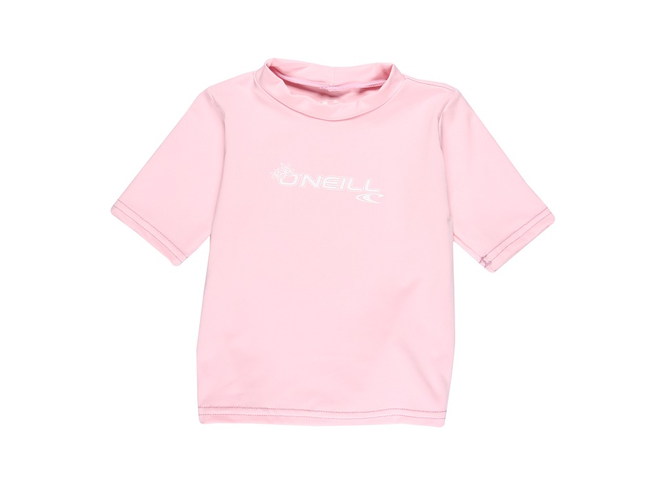 ONeill Kids - Basic Skins S/S Rash Tee (Toddler) (Pink) Boys Swimwear