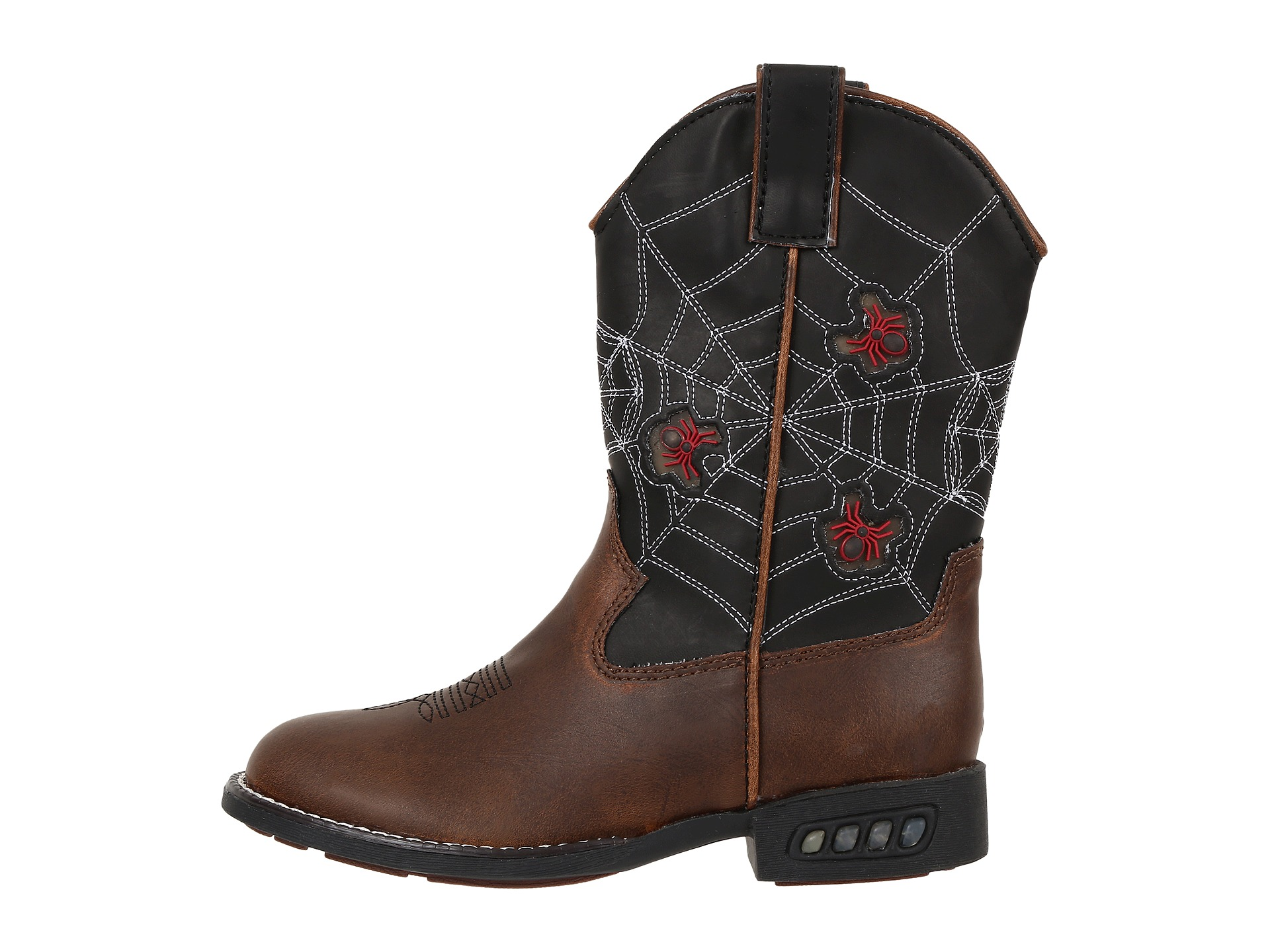 Roper Kids Spider Lighted Cowboy Boots (Toddler/Little Kid ...