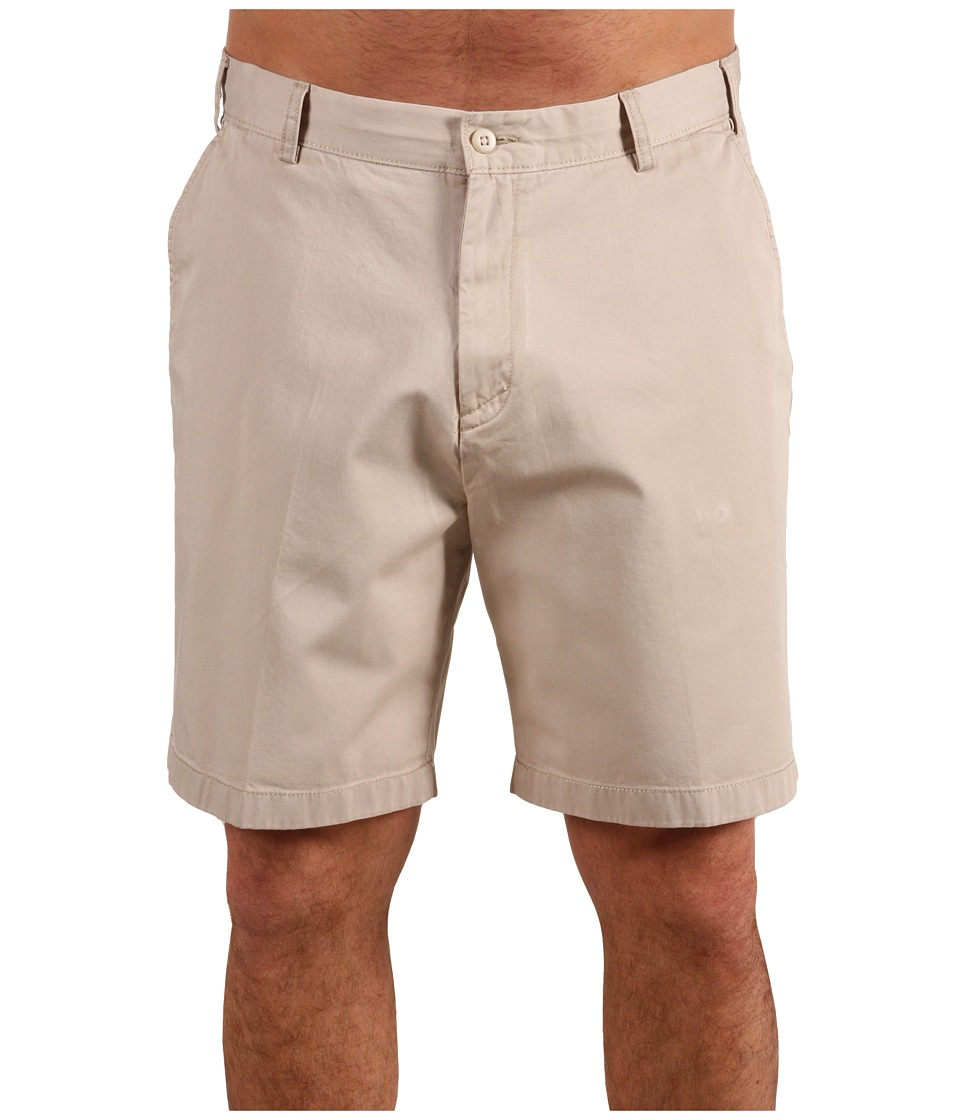 Nautica Big & Tall Big Tall True Khaki Flat Front Short (True Stone) Men
