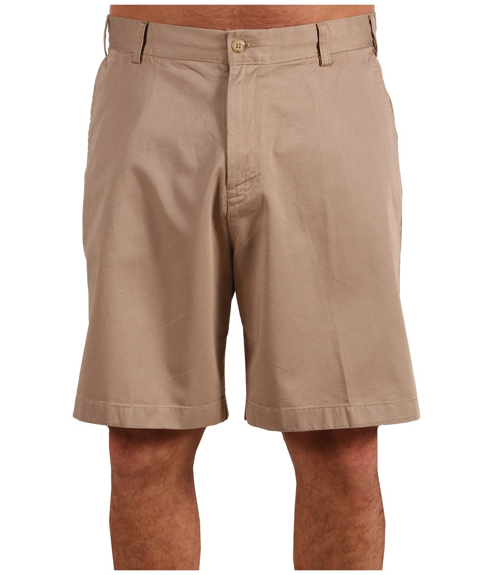 Nautica Big & Tall Big Tall True Khaki Flat Front Short (True Khaki) Men
