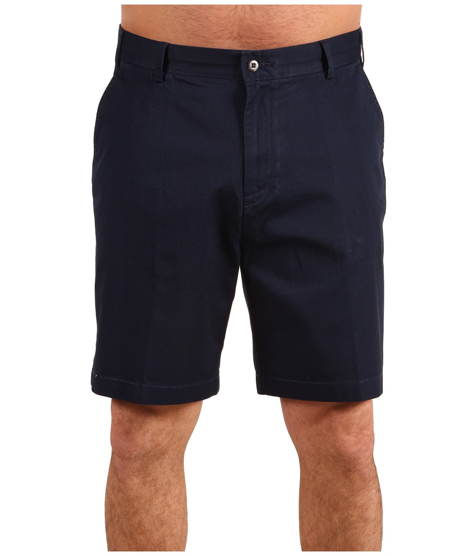 Nautica Big & Tall Big Tall True Khaki Flat Front Short (True Navy) Men