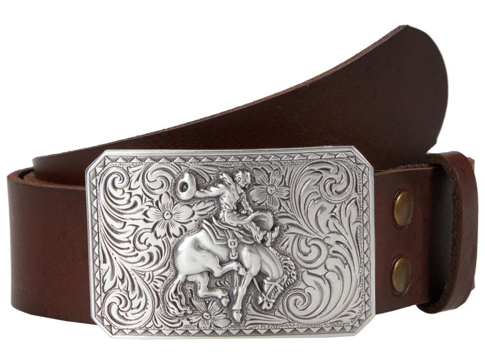 M&F Western - Vintage Leather Belt W/Antiqued Cowboy Buckle