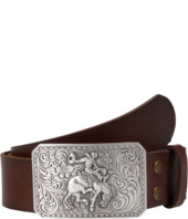 Nocona - Vintage Leather Belt W/Antiqued Cowboy Buckle