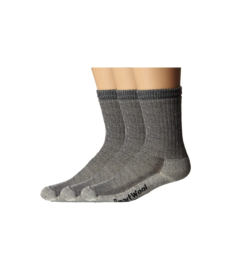 Smartwool Hike Medium Crew 3 Pack Gray Crew Cut Socks Shoes