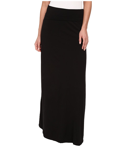Splendid - Modal Lycra Maxi Skirt (Black) - Apparel