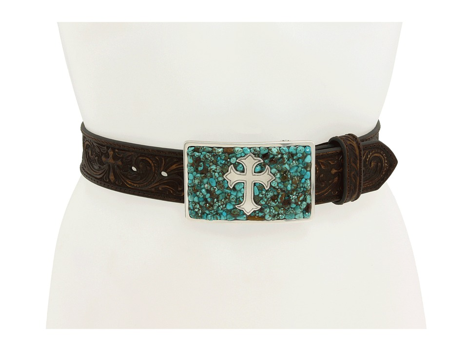 M&F Western - Turquoise Stone Cross (Turquoise/Brown) Women