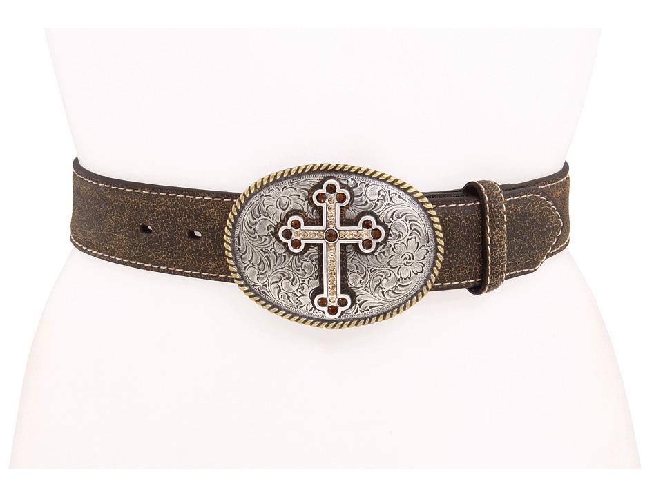 M&F Western - Antique Cross (Brown) Womens Belts