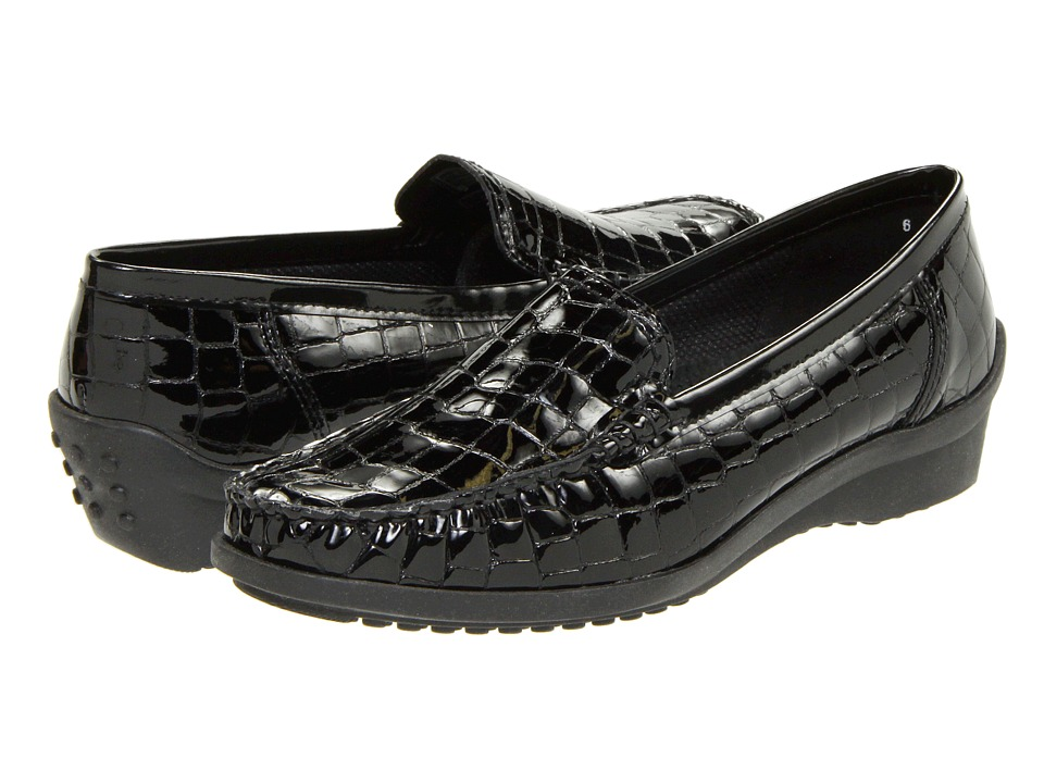 ara - Phoebe (Black Croco Patent) Womens Slip on  Shoes