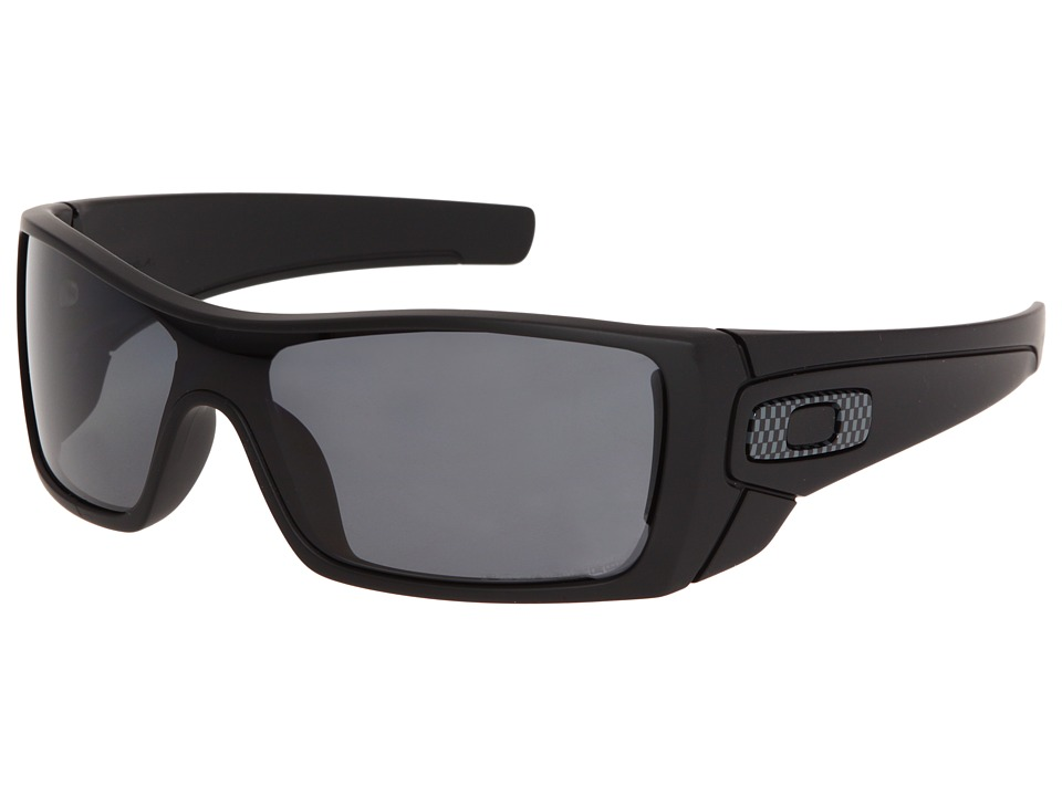 Oakley Batwolf Polarized (Matte Black/Grey Polarized) Sport Sunglasses