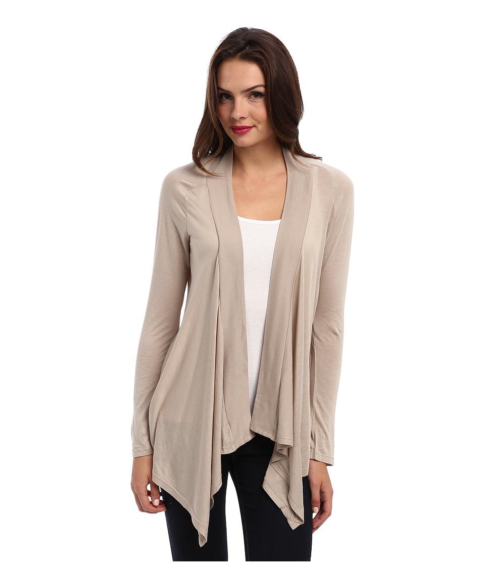 Splendid - Very Light Jersey Drape Cardigan (Almond) Womens Sweater