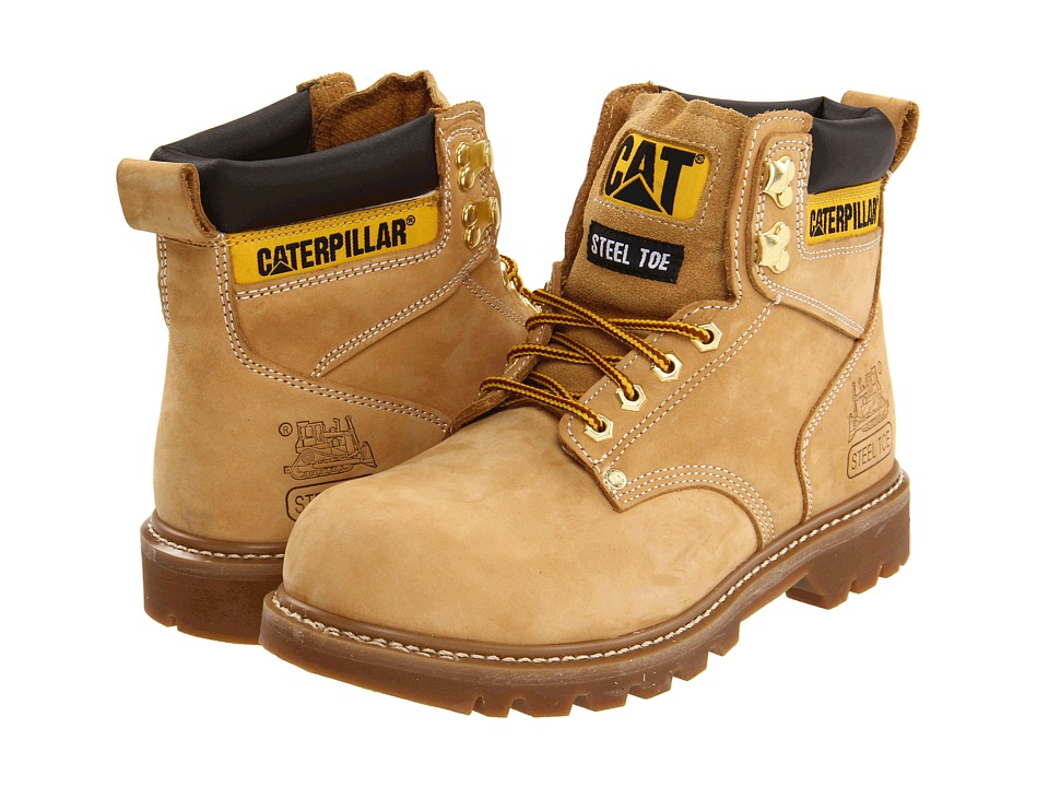 Caterpillar 2nd Shift Steel Toe Honey Nubuck Mens Work Boots