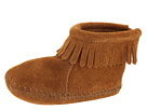 Minnetonka Kids by Suede Back Flap Bootie (Infant/Toddler)