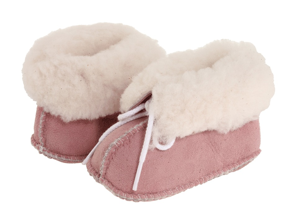 Minnetonka Kids Genuine Sheepskin Bootie Infant/Toddler Pink Sheepskin Girls Shoes