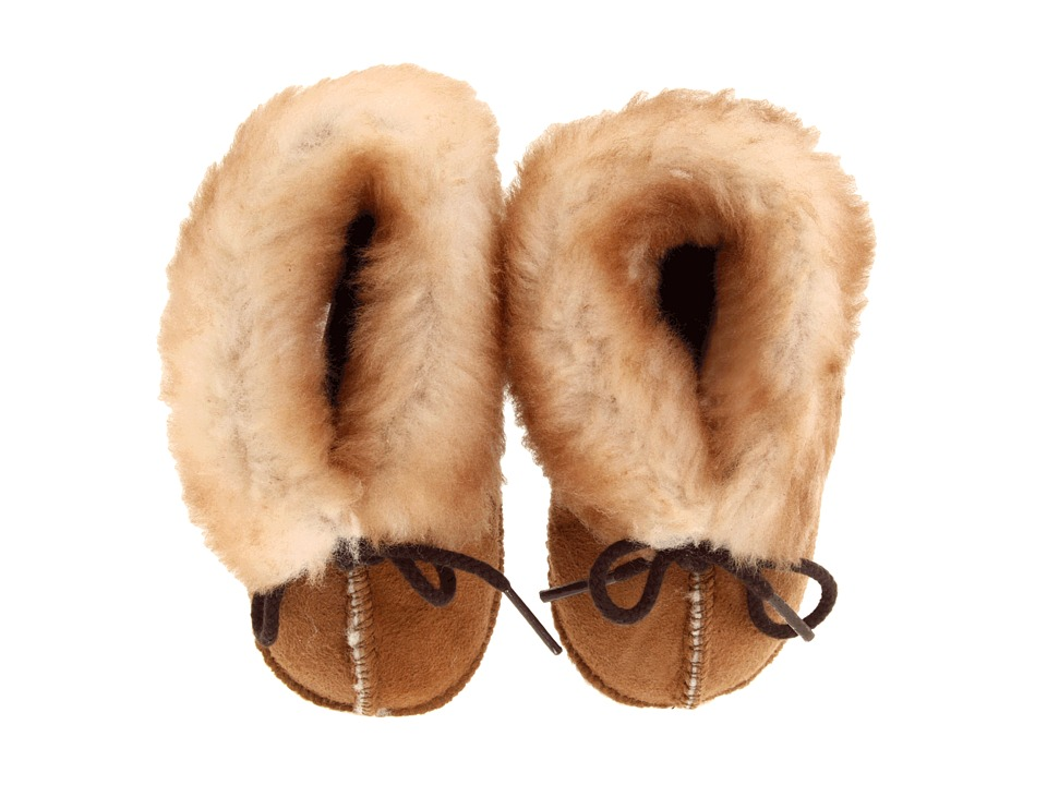 Minnetonka Kids Genuine Sheepskin Bootie Infant/Toddler Golden Tan Sheepskin Kids Shoes