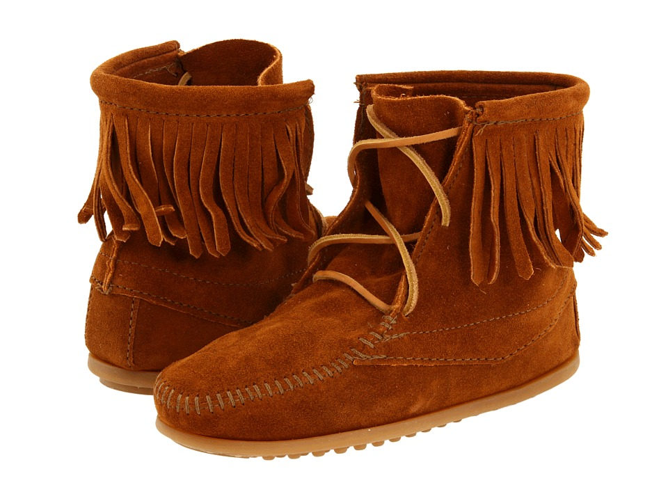 Minnetonka Kids - Ankle Hi Tramper Boot (Toddler/Little Kid/Big Kid) (Brown Suede) Girls Shoes